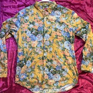 SUPREME FW14 Yellow Floral Shirt